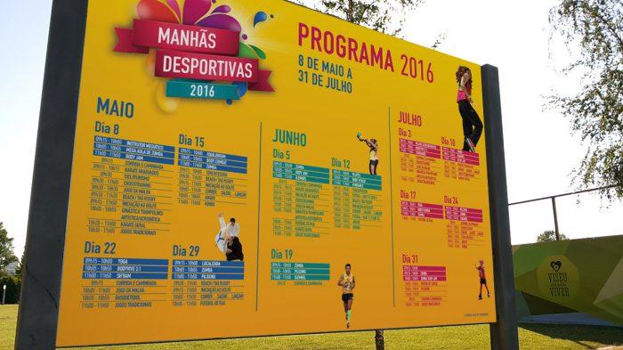 Painel manhãs desportivas viseu 2016 publicidade volupio