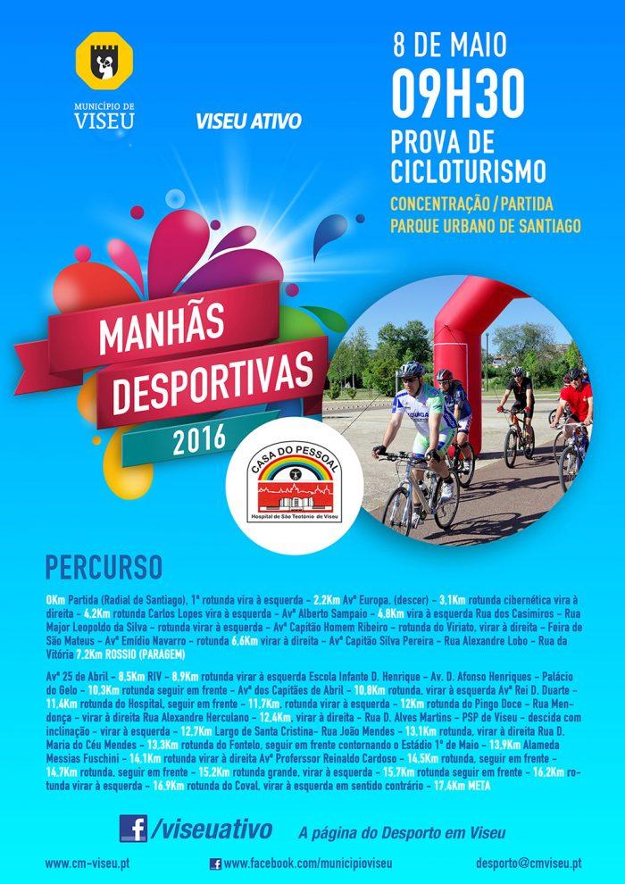Cartaz ciclismo manhas desportivas viseu 2016 publicidade volupio