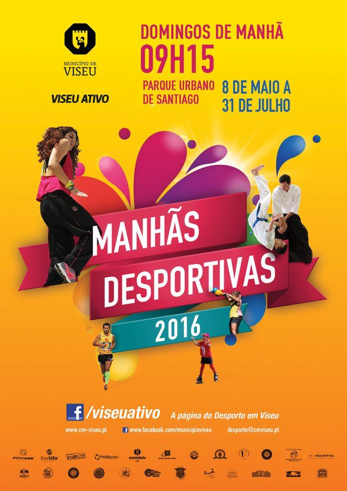 Cartaz programa manhas desportivas viseu 2016 publicidade Volupio
