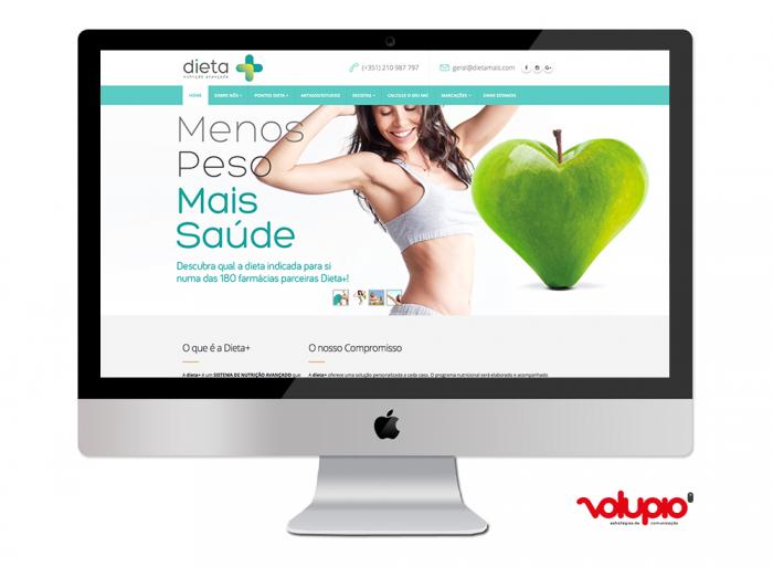 Website Dietamais Volupio Comunicação Publicidade Viseu