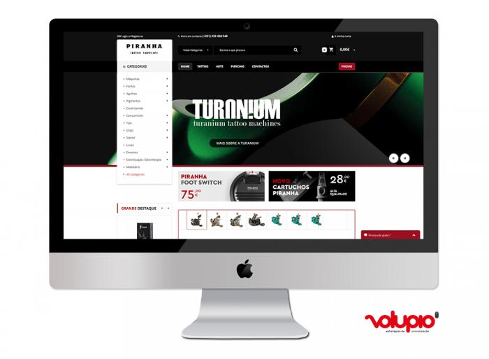 Piranha Tattoo Website Viseu Volupio Publicidade Comunicação