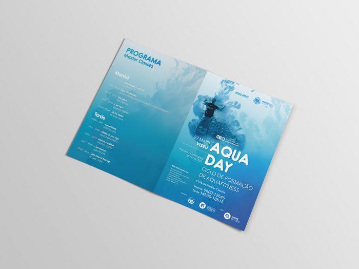 Folheto Aqua day 2 volupio publicidade comunicação viseu