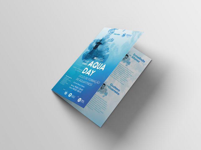 Folheto Aqua day 3 volupio publicidade comunicação viseu