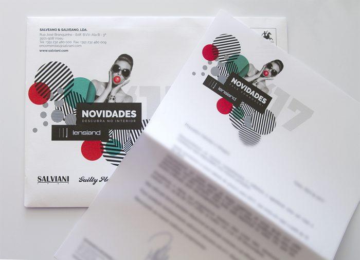 envelope campanha salviani lensland 3 volupio comunicação publicidade marketing Viseu