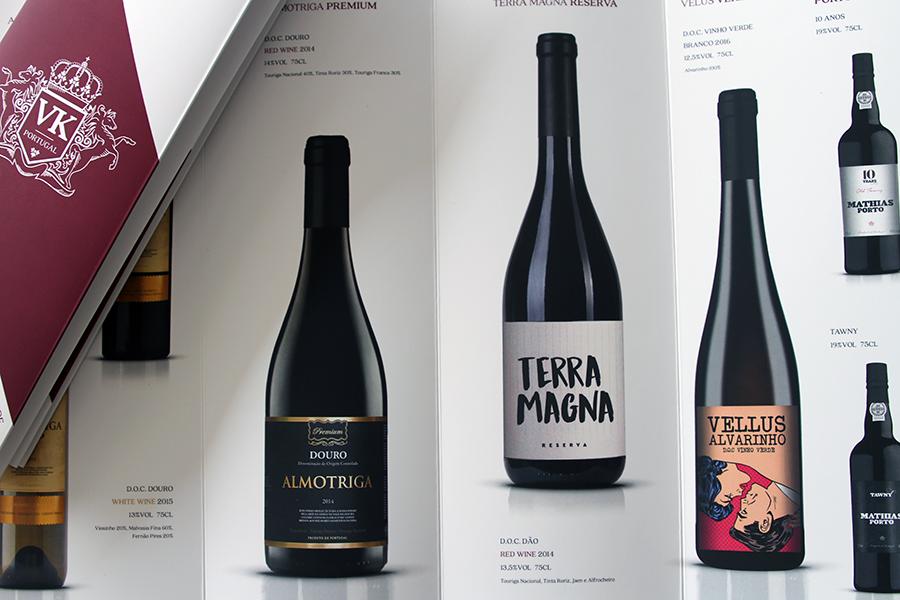 Design de Catálogo de vinhos Vinoking