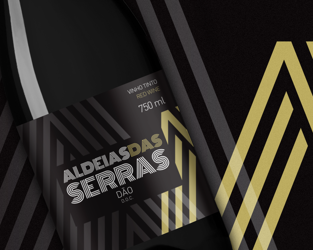 """Design de Rótulo para vinho """"Aldeias das Serras"""" da Adega de Silgueiros"""