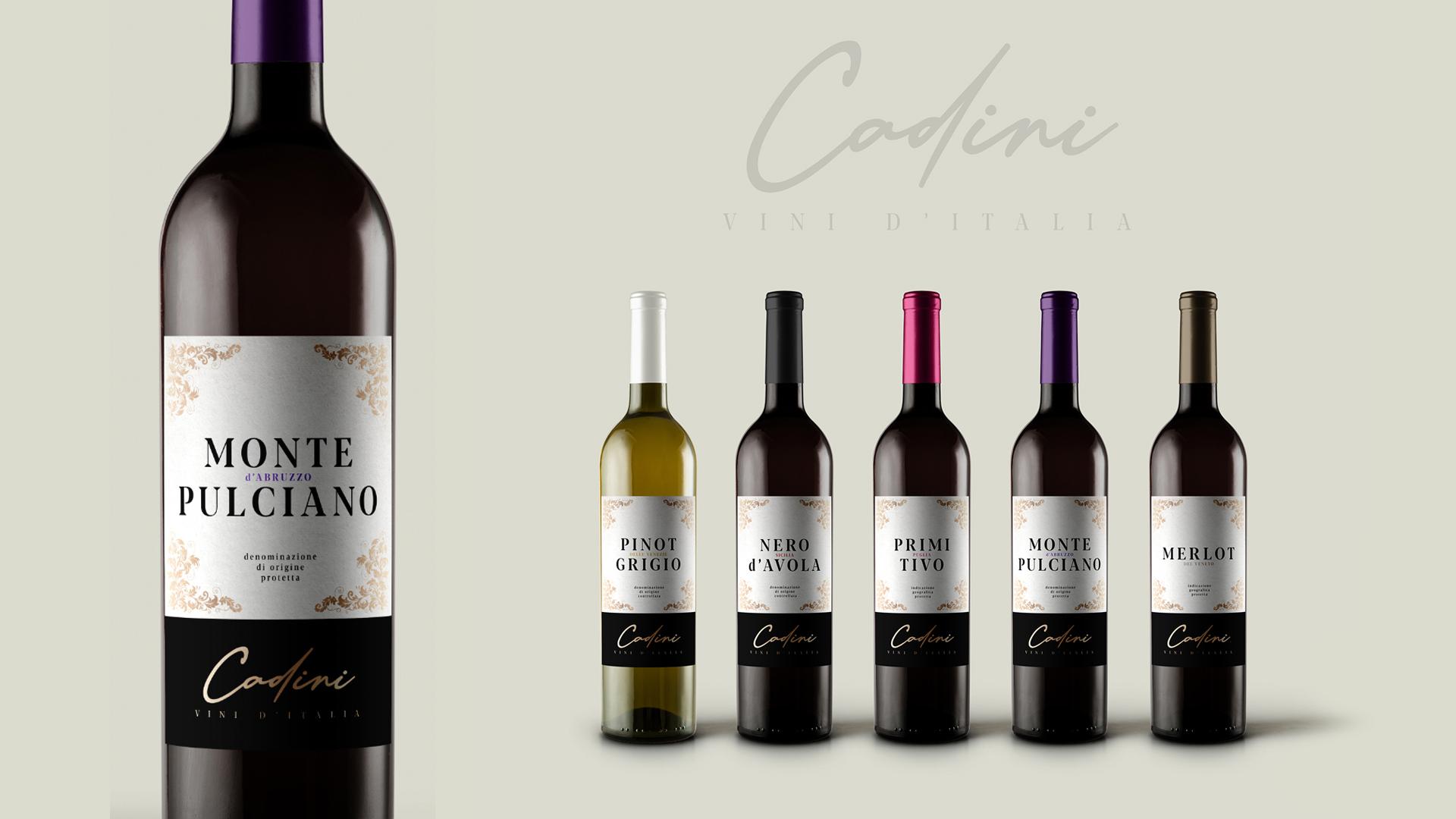 """Design de Rótulo para os Vinhos """"Cadini"""""""