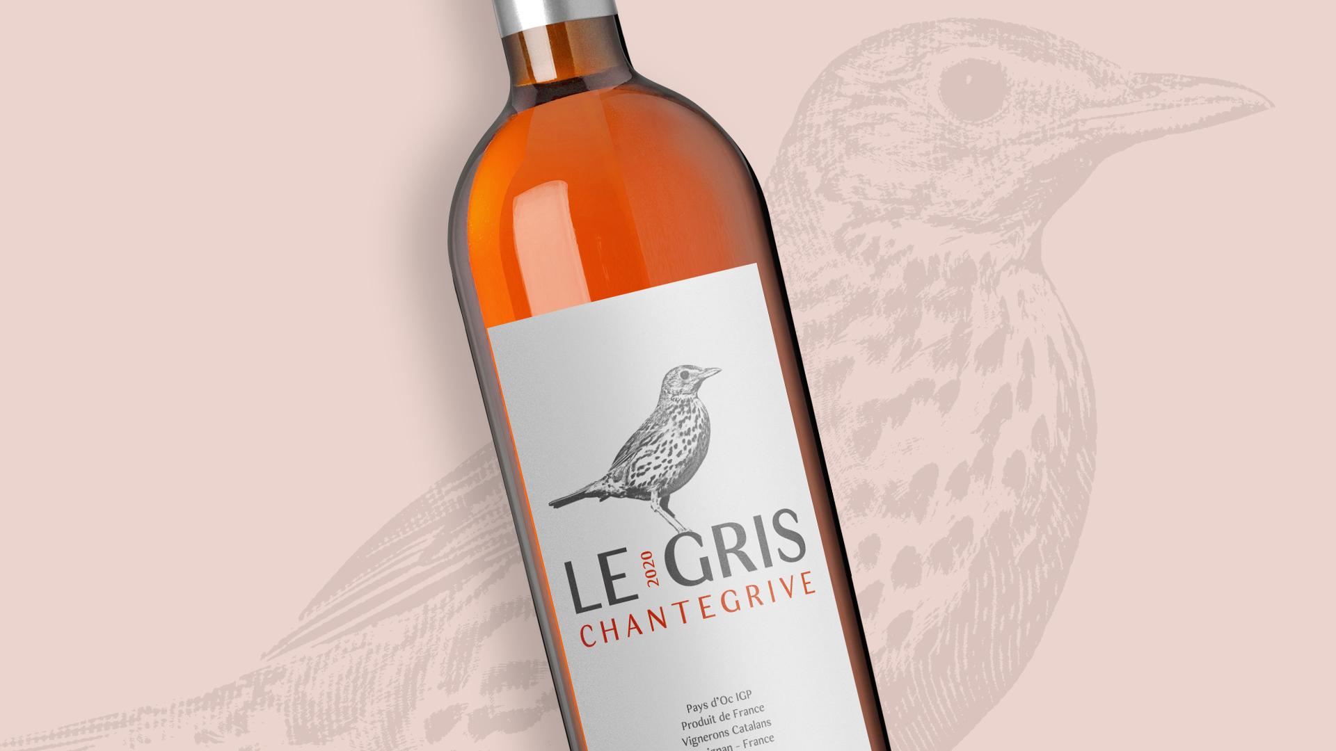 """Design de Rótulo e Caixa para vinho """"Le Gris Chantegrive"""""""