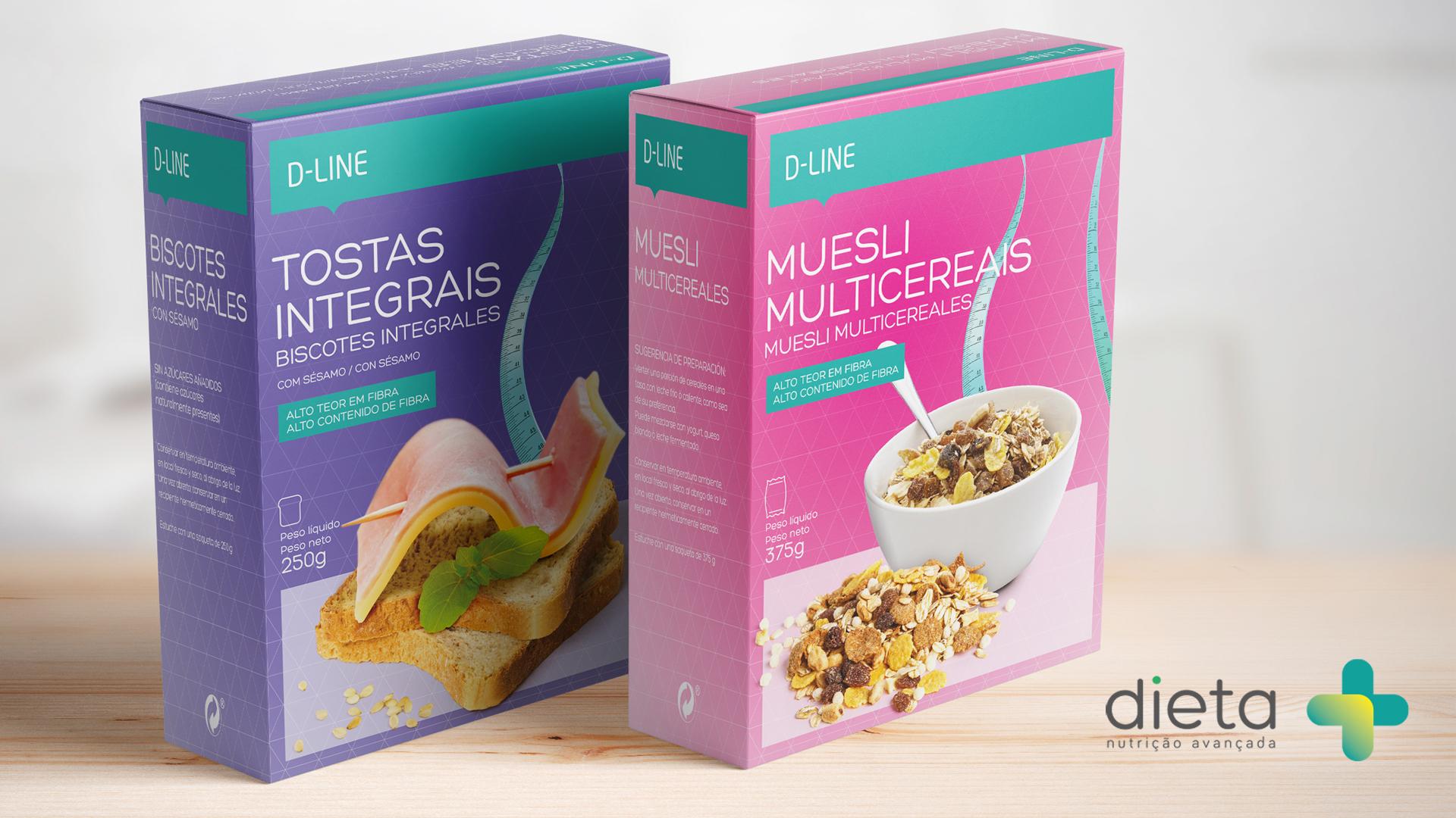 Desenvolvemos o design de embalagens para os produtos Dieta +