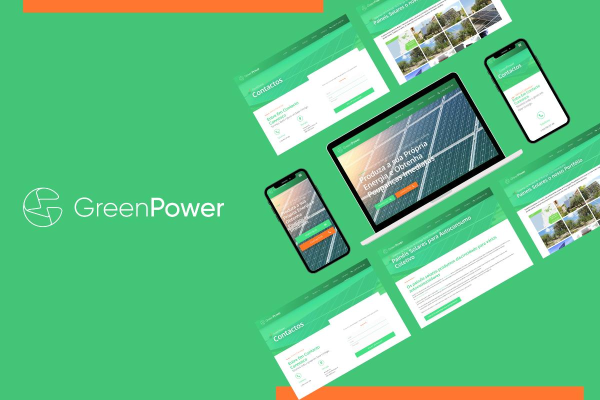 Criámos o Website para a Green Power