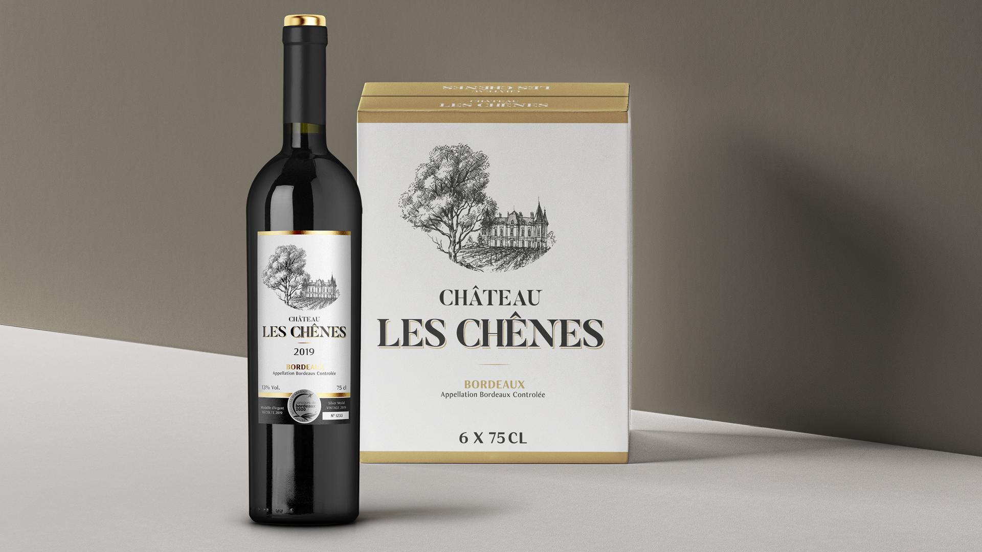 """Design de Rótulo """"Château – Les Chenes"""""""