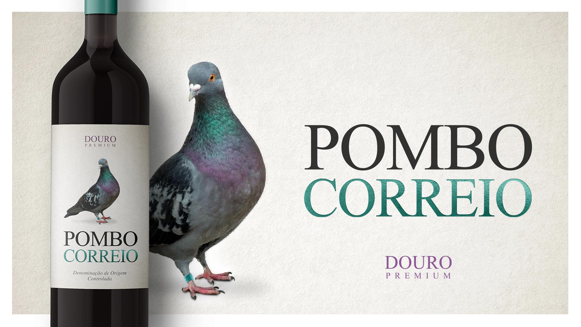 """Design de Rótulo para o Vinho """"Pombo Correio"""""""