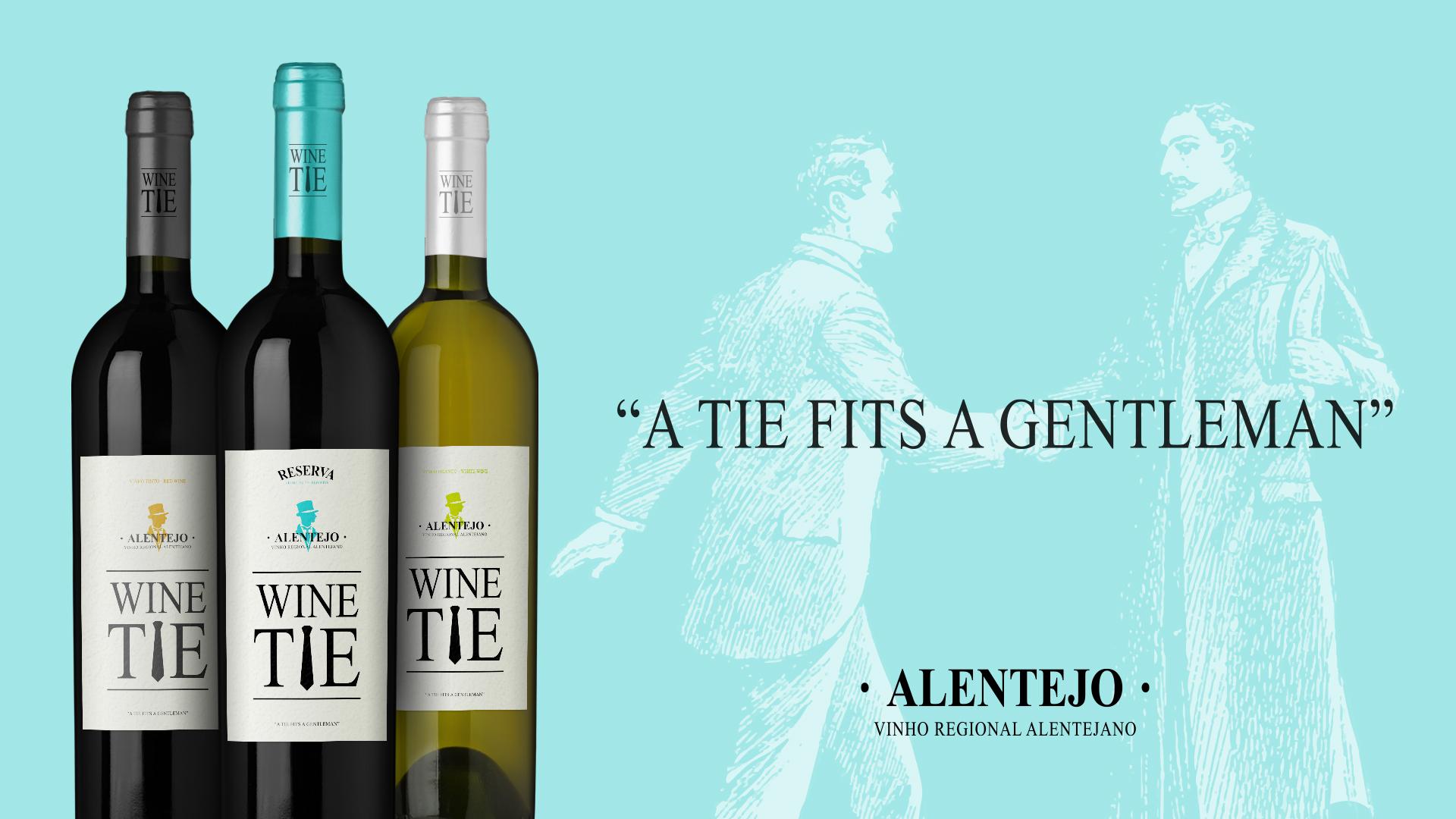 Design de Rótulo Wine Tie