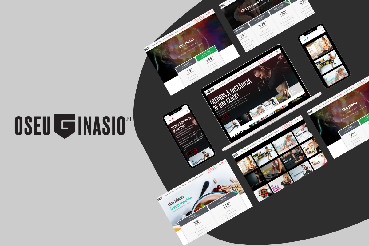 Desenvolvemos o website para O Seu Ginásio