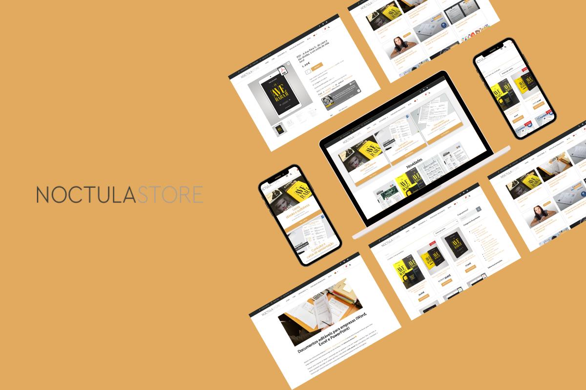 Reformulámos a loja online da NOCTULA store