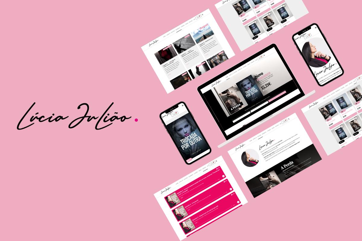 Criação de website para  a Lúcia Julião