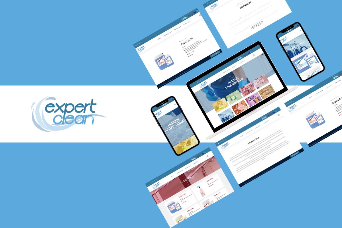 Criação de website para os produtos ExpertClean